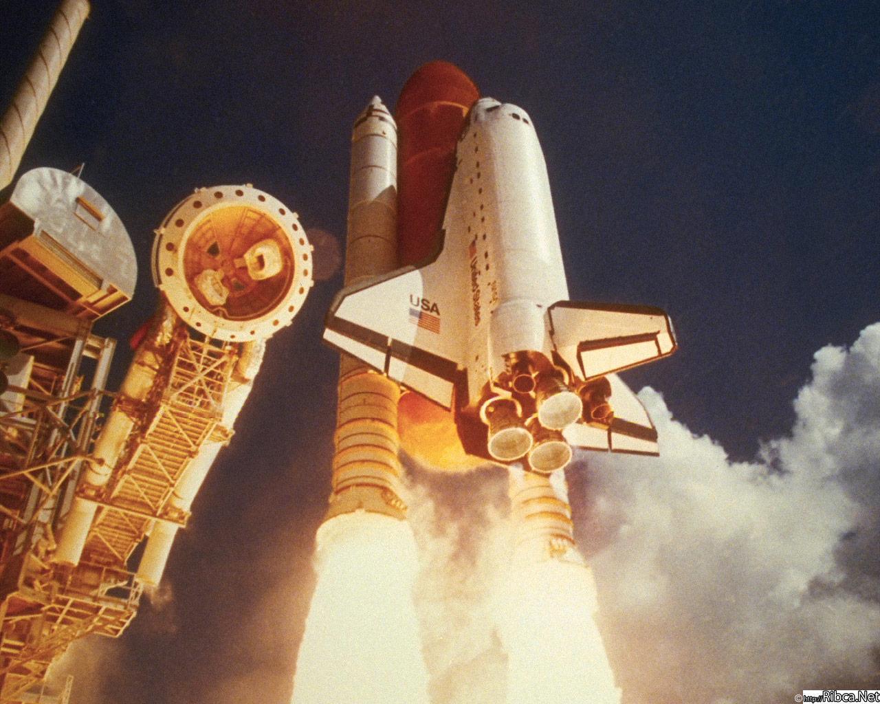Скачать обои космос и небо ракеты